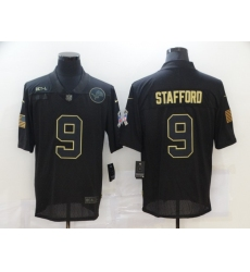Men's Detroit Lions #9 Matthew Stafford Black Nike 2020 Salute To Service Limited Jersey