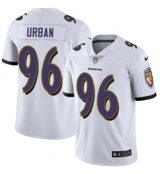 Men's Nike Baltimore Ravens #96 Brent Urban White Vapor Untouchable Limited Player NFL Jersey