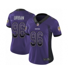 Women's Nike Baltimore Ravens #96 Brent Urban Limited Purple Rush Drift Fashion NFL Jersey