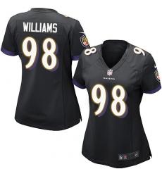 Women's Nike Baltimore Ravens #98 Brandon Williams Game Black Alternate NFL Jersey