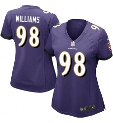 Women's Nike Baltimore Ravens #98 Brandon Williams Game Purple Team Color NFL Jersey