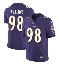 Youth Nike Baltimore Ravens #98 Brandon Williams Purple Team Color Vapor Untouchable Limited Player NFL Jersey