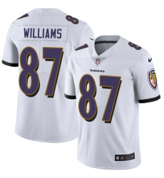 Youth Nike Baltimore Ravens #87 Maxx Williams White Vapor Untouchable Limited Player NFL Jersey
