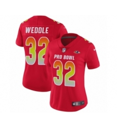 Women's Nike Baltimore Ravens #32 Eric Weddle Limited Red AFC 2019 Pro Bowl NFL Jersey