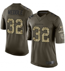 Youth Nike Baltimore Ravens #32 Eric Weddle Elite Green Salute to Service NFL Jersey