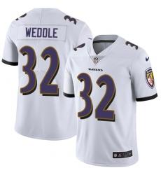 Youth Nike Baltimore Ravens #32 Eric Weddle Elite White NFL Jersey