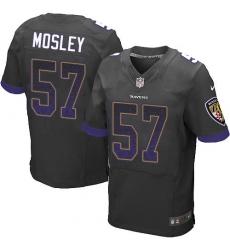 Men's Nike Baltimore Ravens #57 C.J. Mosley Elite Black Alternate Drift Fashion NFL Jersey