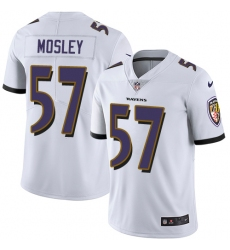 Men's Nike Baltimore Ravens #57 C.J. Mosley White Vapor Untouchable Limited Player NFL Jersey