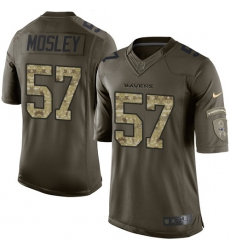 Youth Nike Baltimore Ravens #57 C.J. Mosley Elite Green Salute to Service NFL Jersey
