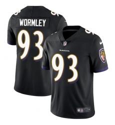 Men's Nike Baltimore Ravens #93 Chris Wormley Black Alternate Vapor Untouchable Limited Player NFL Jersey