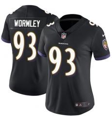 Women's Nike Baltimore Ravens #93 Chris Wormley Elite Black Alternate NFL Jersey