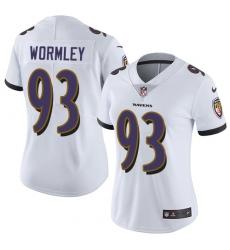 Women's Nike Baltimore Ravens #93 Chris Wormley Elite White NFL Jersey