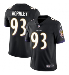 Youth Nike Baltimore Ravens #93 Chris Wormley Black Alternate Vapor Untouchable Limited Player NFL Jersey