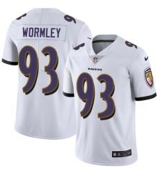 Youth Nike Baltimore Ravens #93 Chris Wormley Elite White NFL Jersey