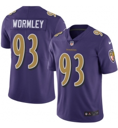 Youth Nike Baltimore Ravens #93 Chris Wormley Limited Purple Rush Vapor Untouchable NFL Jersey