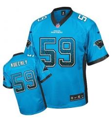 Men's Nike Carolina Panthers #59 Luke Kuechly Elite Blue Drift Fashion NFL Jersey