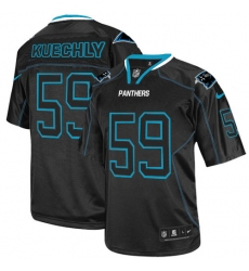 Men's Nike Carolina Panthers #59 Luke Kuechly Elite Lights Out Black NFL Jersey