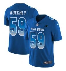 Men's Nike Carolina Panthers #59 Luke Kuechly Limited Royal Blue 2018 Pro Bowl NFL Jersey