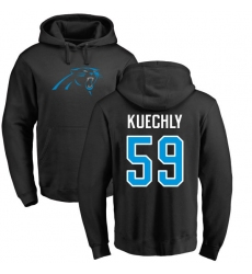 NFL Nike Carolina Panthers #59 Luke Kuechly Black Name & Number Logo Pullover Hoodie