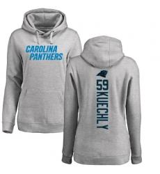 NFL Women's Nike Carolina Panthers #59 Luke Kuechly Ash Backer Pullover Hoodie