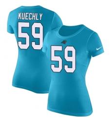 NFL Women's Nike Carolina Panthers #59 Luke Kuechly Blue Rush Pride Name & Number T-Shirt
