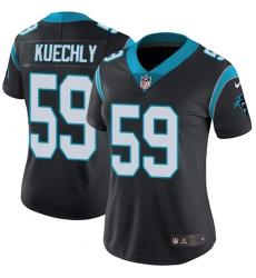 Women's Nike Carolina Panthers #59 Luke Kuechly Black Team Color Vapor Untouchable Limited Player NFL Jersey