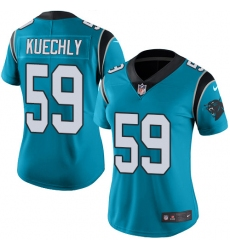 Women's Nike Carolina Panthers #59 Luke Kuechly Elite Blue Alternate NFL Jersey