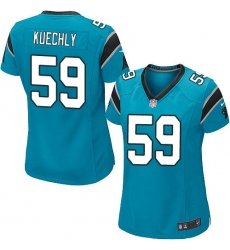 Women's Nike Carolina Panthers #59 Luke Kuechly Game Blue Alternate NFL Jersey