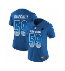 Women's Nike Carolina Panthers #59 Luke Kuechly Limited Royal Blue NFC 2019 Pro Bowl NFL Jersey