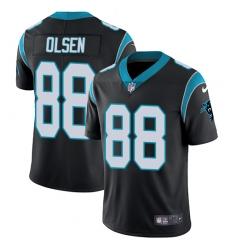 Men's Nike Carolina Panthers #88 Greg Olsen Black Team Color Vapor Untouchable Limited Player NFL Jersey