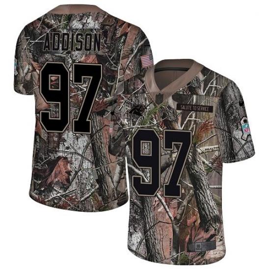 Men's Nike Carolina Panthers #97 Mario Addison Camo Rush Realtree Limited NFL Jersey