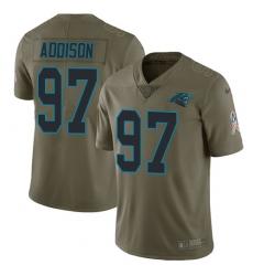 Men's Nike Carolina Panthers #97 Mario Addison Limited Olive 2017 Salute to Service NFL Jersey