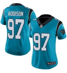 Women's Nike Carolina Panthers #97 Mario Addison Blue Alternate Vapor Untouchable Limited Player NFL Jersey
