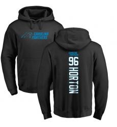 NFL Nike Carolina Panthers #96 Wes Horton Black Backer Pullover Hoodie
