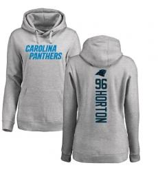 NFL Women's Nike Carolina Panthers #96 Wes Horton Ash Backer Pullover Hoodie
