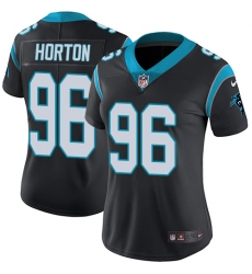 Women's Nike Carolina Panthers #96 Wes Horton Black Team Color Vapor Untouchable Limited Player NFL Jersey