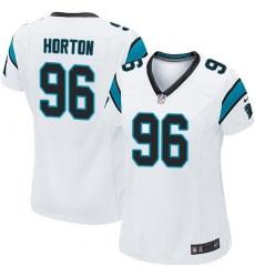 Women's Nike Carolina Panthers #96 Wes Horton Game White NFL Jersey