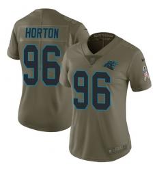 Women's Nike Carolina Panthers #96 Wes Horton Limited Olive 2017 Salute to Service NFL Jersey