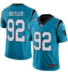 Men's Nike Carolina Panthers #92 Vernon Butler Limited Blue Rush Vapor Untouchable NFL Jersey
