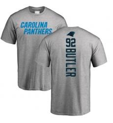 NFL Nike Carolina Panthers #92 Vernon Butler Ash Backer T-Shirt
