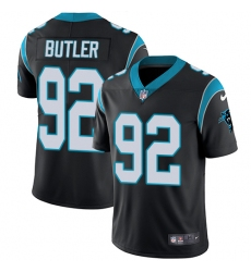 Youth Nike Carolina Panthers #92 Vernon Butler Black Team Color Vapor Untouchable Limited Player NFL Jersey