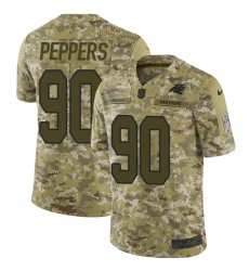 Youth Nike Carolina Panthers #90 Julius Peppers Limited Camo 2018 Salute to Service NFL Jersey