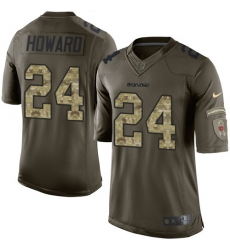 Men's Nike Chicago Bears #24 Jordan Howard Elite Green Salute to Service NFL Jersey