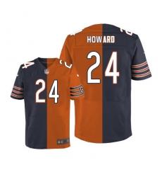 Men's Nike Chicago Bears #24 Jordan Howard Elite Navy/Orange Split Fashion NFL Jersey
