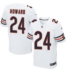 Men's Nike Chicago Bears #24 Jordan Howard Elite White NFL Jersey