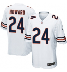 Men's Nike Chicago Bears #24 Jordan Howard Game White NFL Jersey