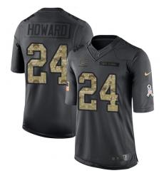 Men's Nike Chicago Bears #24 Jordan Howard Limited Black 2016 Salute to Service NFL Jersey