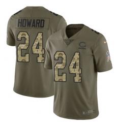 Men's Nike Chicago Bears #24 Jordan Howard Limited Olive/Camo Salute to Service NFL Jersey