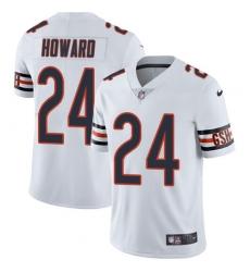 Men's Nike Chicago Bears #24 Jordan Howard White Vapor Untouchable Limited Player NFL Jersey