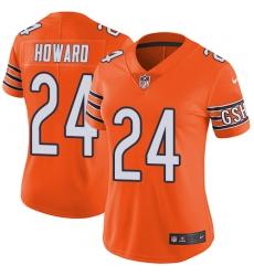 Women's Nike Chicago Bears #24 Jordan Howard Limited Orange Rush Vapor Untouchable NFL Jersey